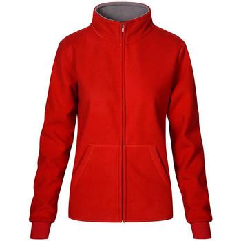 Vêtements Femme Polaires Promodoro Veste polaire doublée Femmes rouge feu / gris