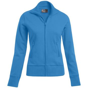 Vêtements Femme Sweats Promodoro Veste col montant Femmes turquoise