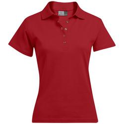 Vêtements Femme Polos manches courtes Promodoro Polo interlock grandes tailles Femmes rouge feu
