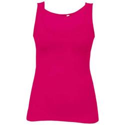Vêtements Femme Débardeurs / T-shirts sans manche Promodoro Débardeur Jersey simple Femmes fushia