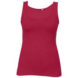 Vêtements Femme Débardeurs / T-shirts sans manche Promodoro Débardeur Jersey simple Femmes rouge cerise