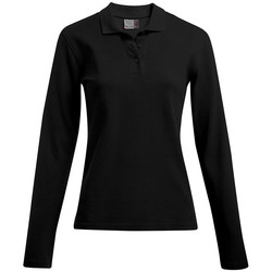 Vêtements Femme Polos manches longues Promodoro Polo épais manches longues Femmes noir