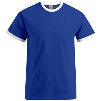 Vêtements Homme T-shirts manches courtes Promodoro T-shirt Contraste Hommes bleu roi / blanc