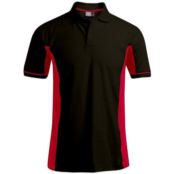 Vêtements Homme Polos manches courtes Promodoro Polo fonctionnel grandes tailles Hommes noir / rouge
