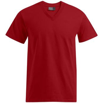 Vêtements Homme T-shirts manches courtes Promodoro T-shirt Premium col V Hommes rouge feu