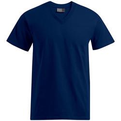 Vêtements Homme T-shirts manches courtes Promodoro T-shirt Premium col V Hommes bleu marine