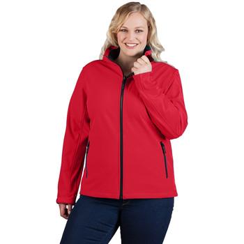 Vêtements Femme Coupes vent Promodoro Veste Softshell C+ grandes tailles Femmes rouge feu