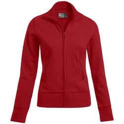 Vêtements Femme Sweats Promodoro Veste col montant grandes tailles Femmes rouge feu