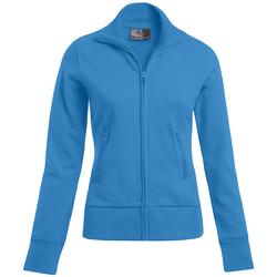 Vêtements Femme Sweats Promodoro Veste col montant grandes tailles Femmes turquoise