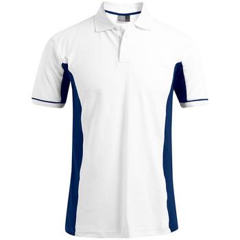 Vêtements Homme Polos manches courtes Promodoro Polo fonctionnel Hommes blanc / indigo