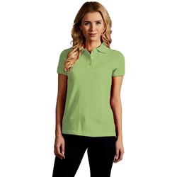 Vêtements Femme Polos manches courtes Promodoro Polo supérieur Femmes vert lime sauvage