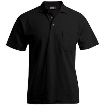 Vêtements Homme Polos manches courtes Promodoro Polo épais poche Hommes noir