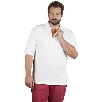 Vêtements Homme Polos manches courtes Promodoro Polo supérieur Fan Allemagne grandes tailles Hommes blanc