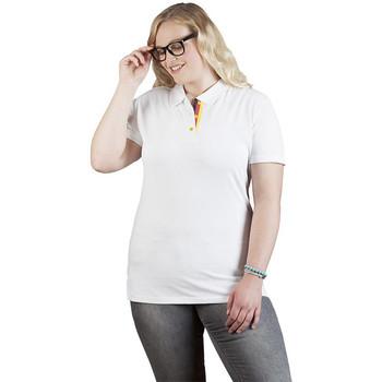 Vêtements Femme Polos manches courtes Promodoro Polo supérieur Fan Allemagne grandes tailles Femmes blanc
