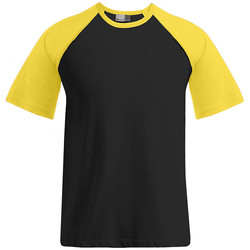 Vêtements Homme T-shirts manches courtes Promodoro T-shirt raglan Baseball Hommes noir / or