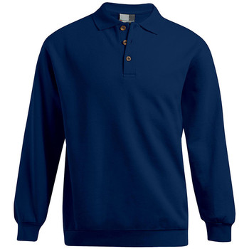 Vêtements Homme Sweats Promodoro Polo sweat manches longues grandes tailles Hommes bleu marine