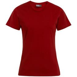 Vêtements Femme T-shirts manches courtes Promodoro T-shirt Premium Femmes rouge feu