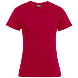 Vêtements Femme T-shirts manches courtes Promodoro T-shirt Premium grandes tailles Femmes rouge cerise