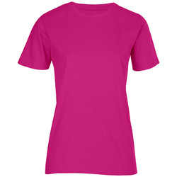 Vêtements Femme T-shirts manches courtes Promodoro T-shirt bio grandes tailles Femmes fushia