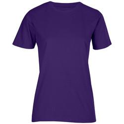 Vêtements Femme T-shirts manches courtes Promodoro T-shirt bio grandes tailles Femmes violet