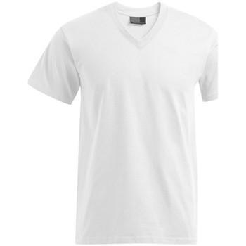Vêtements Homme T-shirts manches courtes Promodoro T-shirt Premium col V grandes tailles Hommes blanc