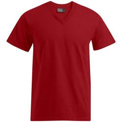 Vêtements Homme T-shirts manches courtes Promodoro T-shirt Premium col V grandes tailles Hommes rouge feu