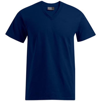 Vêtements Homme T-shirts manches courtes Promodoro T-shirt Premium col V grandes tailles Hommes bleu marine