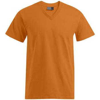Vêtements Homme T-shirts manches courtes Promodoro T-shirt Premium col V grandes tailles Hommes orange