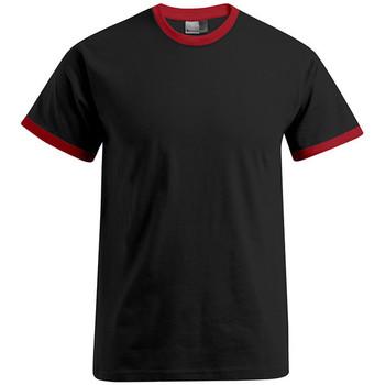 Vêtements Homme T-shirts manches courtes Promodoro T-shirt Contraste Hommes noir / rouge
