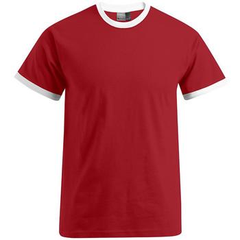 Vêtements Homme T-shirts manches courtes Promodoro T-shirt Contraste Hommes rouge feu / blanc