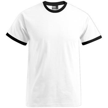 Vêtements Homme T-shirts manches courtes Promodoro T-shirt Contraste Hommes blanc / noir