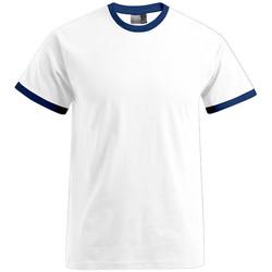Vêtements Homme T-shirts manches courtes Promodoro T-shirt Contraste Hommes blanc / bleu marine