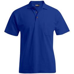 Vêtements Homme Polos manches courtes Promodoro Polo épais poche grandes tailles Hommes bleu roi