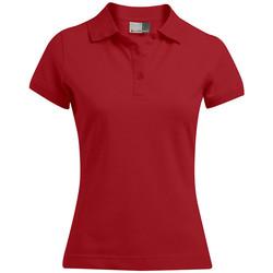 Vêtements Femme Polos manches courtes Promodoro Polo 92-8 grandes tailles Femmes rouge feu