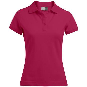 Vêtements Femme Polos manches courtes Promodoro Polo 92-8 grandes tailles Femmes rouge cerise