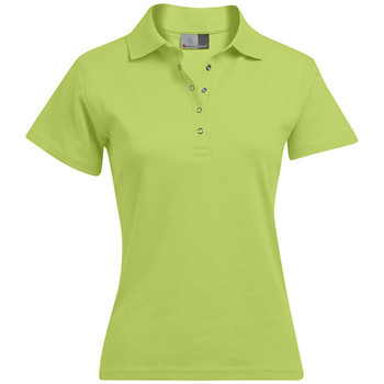 Vêtements Femme Polos manches courtes Promodoro Polo interlock grandes tailles Femmes vert lime sauvage