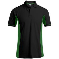 Vêtements Homme Polos manches courtes Promodoro Polo fonctionnel grandes tailles Hommes noir / vert kelly