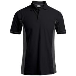 Vêtements Homme Polos manches courtes Promodoro Polo fonctionnel grandes tailles Hommes noir / gris