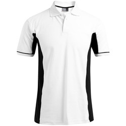 Vêtements Homme Polos manches courtes Promodoro Polo fonctionnel grandes tailles Hommes blanc / noir