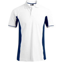 Vêtements Homme Polos manches courtes Promodoro Polo fonctionnel grandes tailles Hommes blanc / indigo