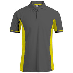 Vêtements Homme Polos manches courtes Promodoro Polo fonctionnel grandes tailles Hommes graphite - jaune fluo
