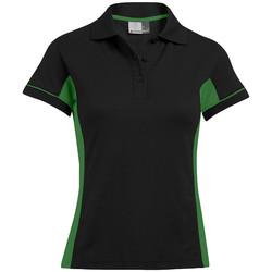 Vêtements Femme Polos manches courtes Promodoro Polo fonctionnel grandes tailles Femmes noir / vert kelly
