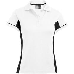 Vêtements Femme Polos manches courtes Promodoro Polo fonctionnel Femmes blanc / noir