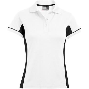 Vêtements Femme Polos manches courtes Promodoro Polo fonctionnel grandes tailles Femmes blanc / noir