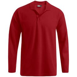 Vêtements Homme Polos manches longues Promodoro Polo épais manches longues Hommes rouge feu