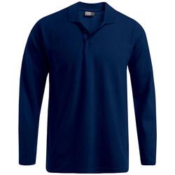 Vêtements Homme Polos manches longues Promodoro Polo épais manches longues Hommes bleu marine