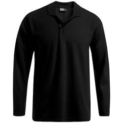 Vêtements Homme Polos manches longues Promodoro Polo épais manches longues Hommes noir
