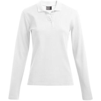 Vêtements Femme Polos manches longues Promodoro Polo épais manches longues grandes tailles Femmes blanc