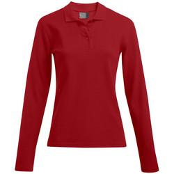 Vêtements Femme Polos manches longues Promodoro Polo épais manches longues grandes tailles Femmes rouge feu