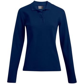 Vêtements Femme Polos manches longues Promodoro Polo épais manches longues Femmes bleu marine